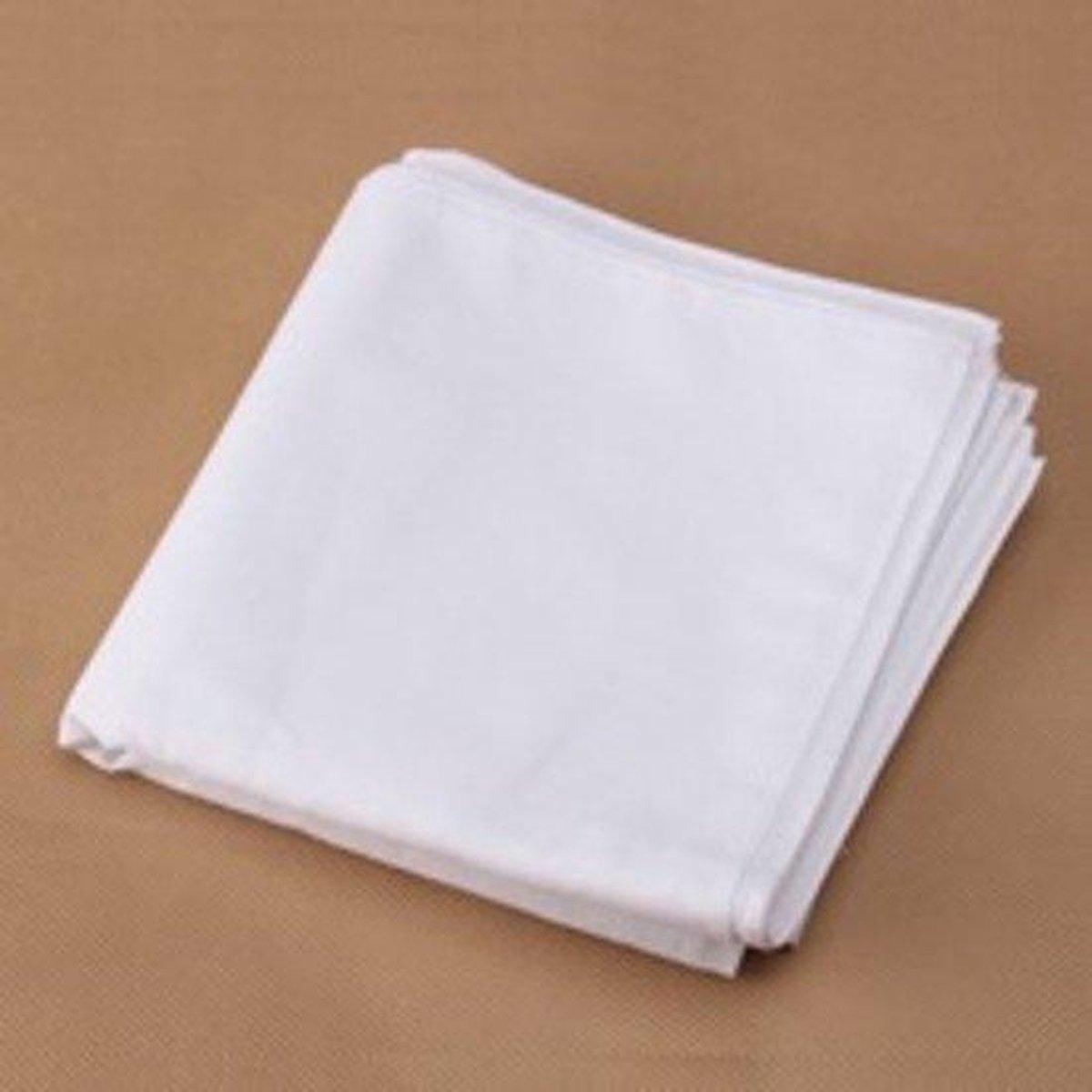 Zakdoeken - Wit - Set 6 stuks 37x37 cm Katoen