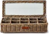 Riviera Maison Rustic Rattan Classic Tea Box- Thee & Koffie Box