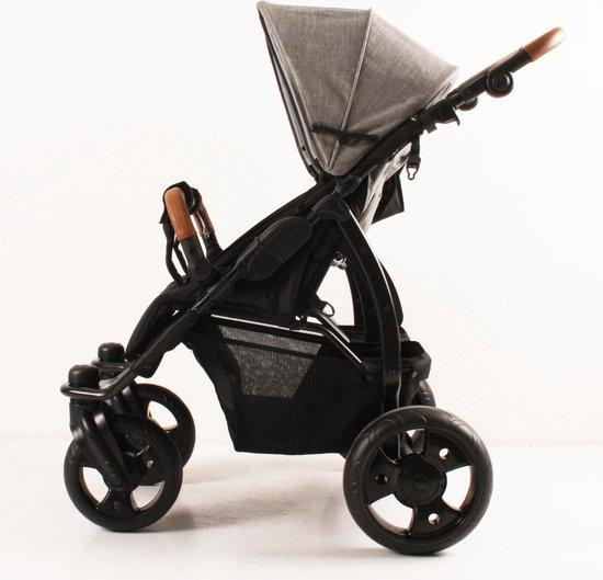 Kees K2 Plus - Duo Kinderwagen - Grey Leather - Grey Linen