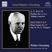 Gieseking: Bach/Beethoven