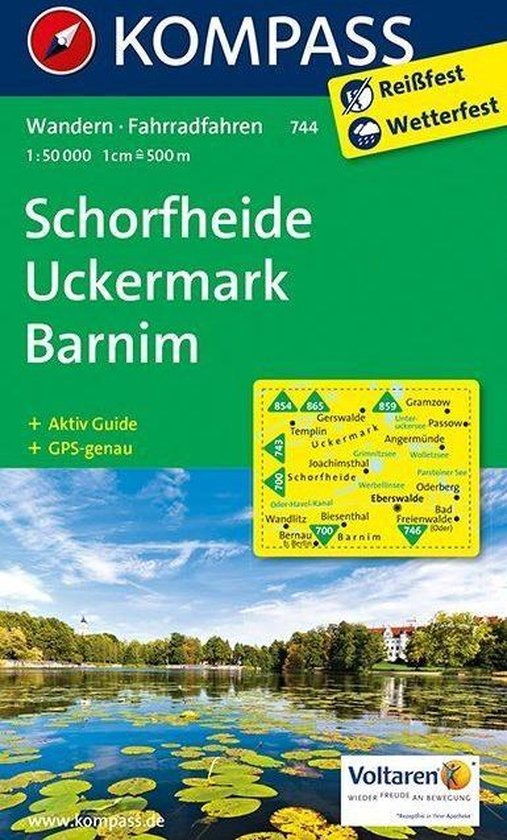 Kompass WK744 Schorfheide Uckermark, Barnim