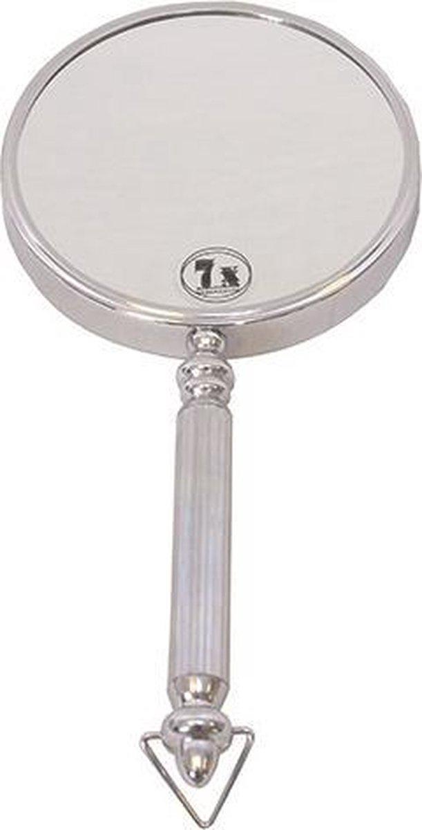 Gérard Brinard metalen spiegel handspiegel 5x vergroting - Ø14cm - Gerard Brinard