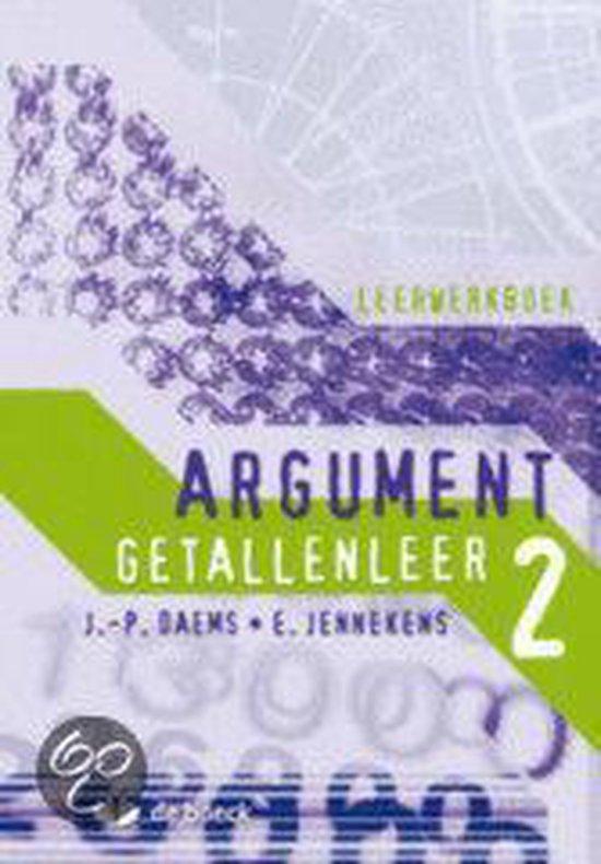 Argument 2 - getallenleer - leerwerkboek - Jennekens | Fthsonline.com
