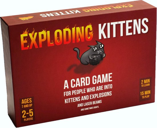 Afbeelding van Exploding Kittens Original Edition - Engelstalig Kaartspel