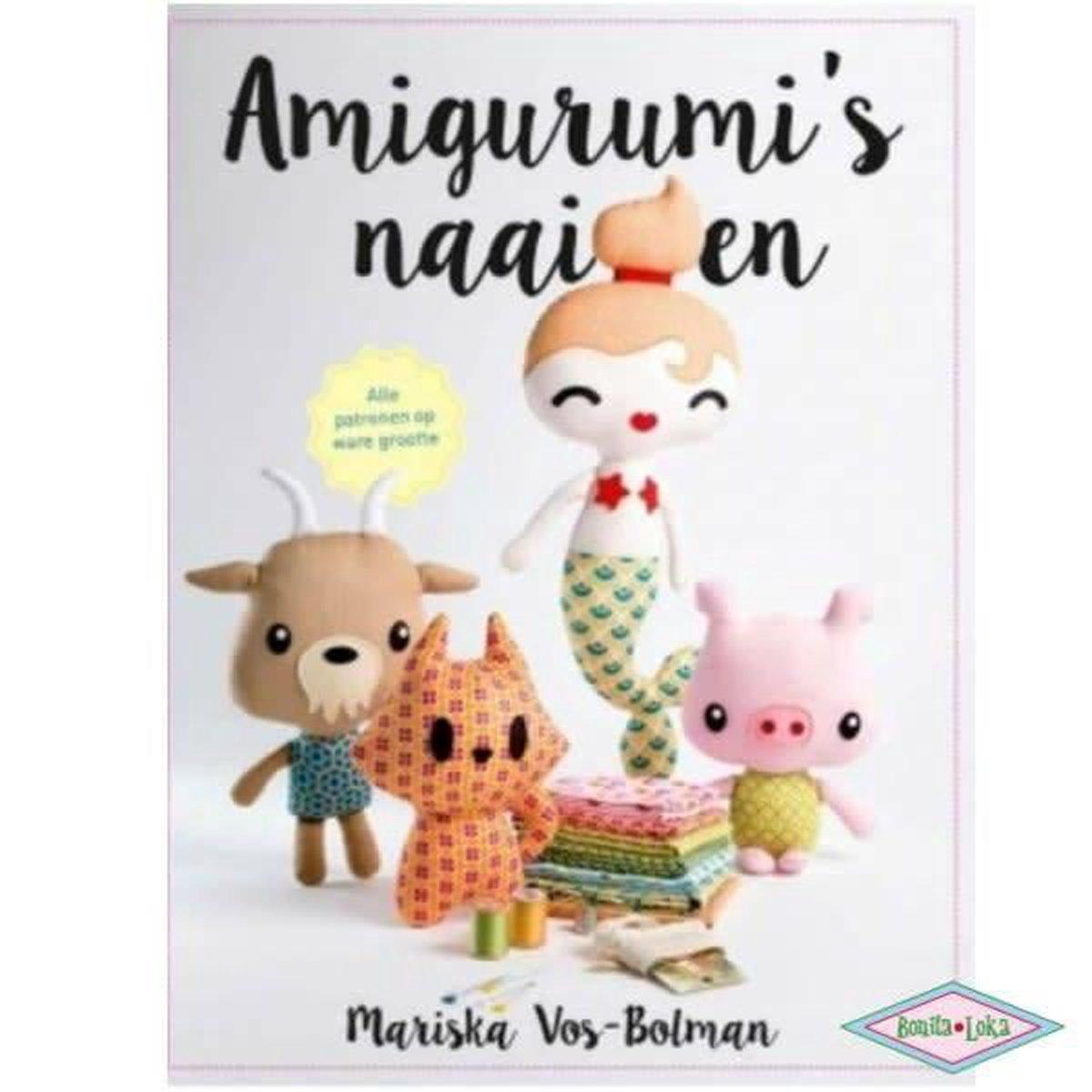Amigurumi's naaien. Alle patronen op ware grootte - Mariska Vos-Bolman