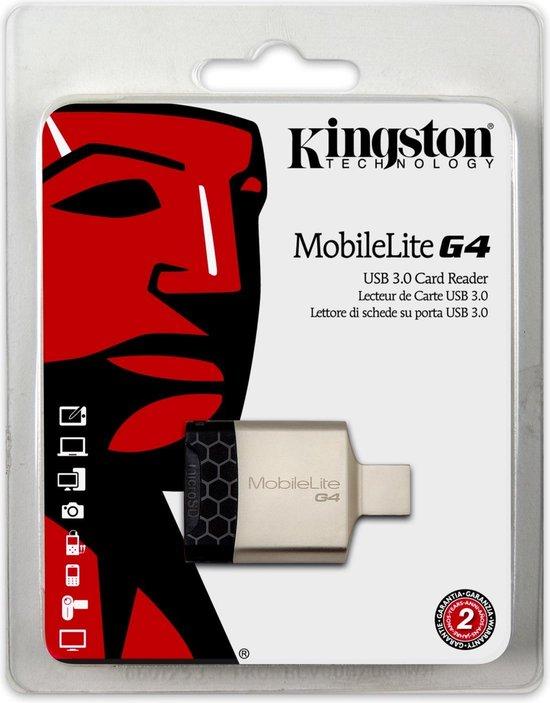 Kingston Technology MobileLite G4 geheugenkaartlezer Zwart, Grijs USB 3.2 Gen 1 (3.1 Gen 1) - Kingston