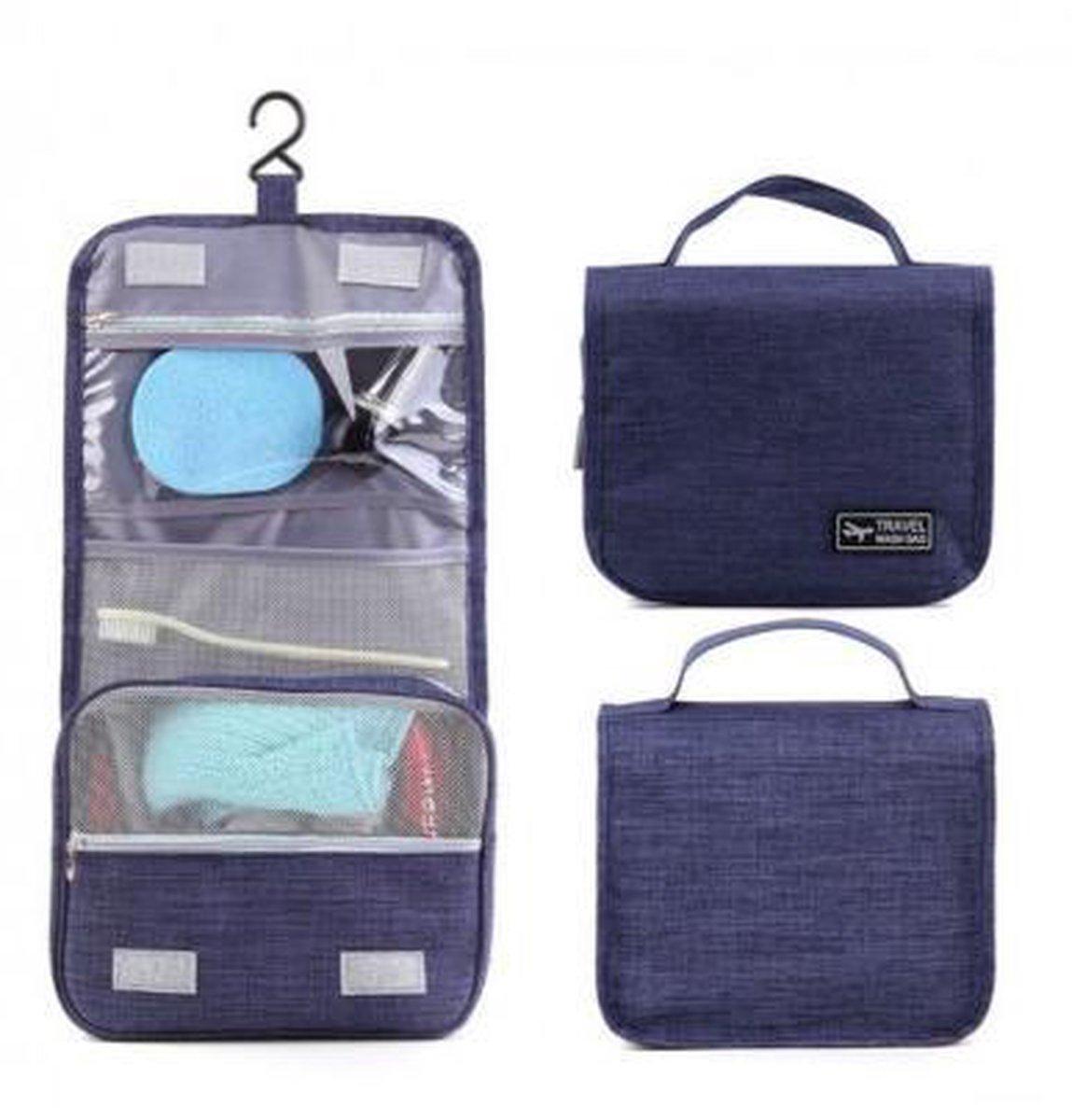 CoshX® Toilettas hang blauw jeans - Hangende toilet tas heren dames - hanging toiletbag - CoshX®