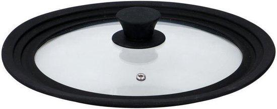 Alpina Universele glazen anti spat deksel met siliconen rand - voor pannen van 24cm/26cm/28cm