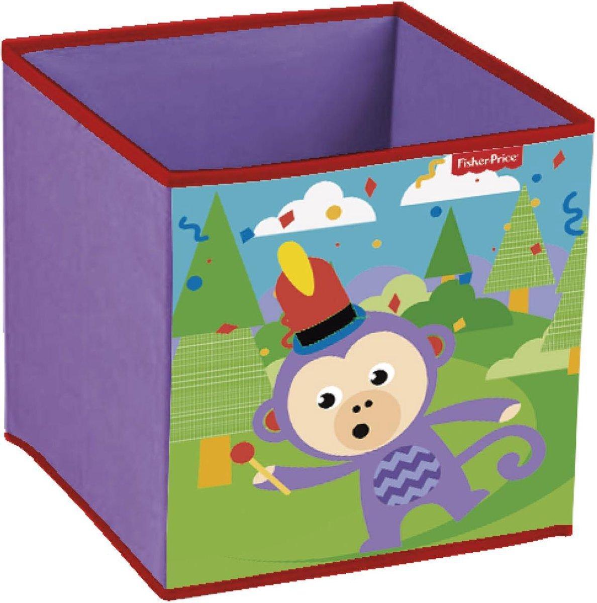 Fisher Price Opbergbox - Aapje Afmeting artikel: 31 x 31 x 31 cm
