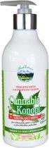 Herb Extract® Verzorgende crème met Cannabis olie - 400 ml -  CBD olie voor de droge - overgevoelige tot pijnlijke huid van lichaam en gezicht. Hydrateert optimaal en verzacht - helpt bij zenuwpijn