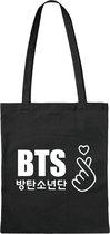 BTS - Korean Boyband Kpop Bangtan Boys Katoenen Tas / Love / heart
