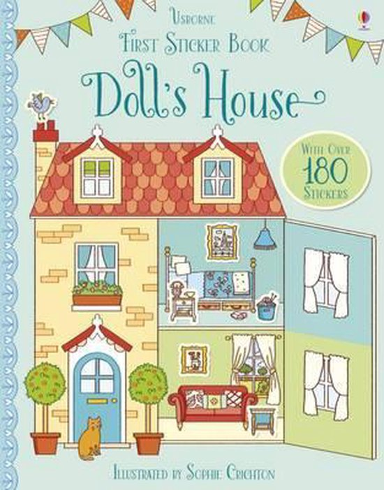 Boek cover First Sticker Book Dolls House van Abigail Wheatley (Paperback)