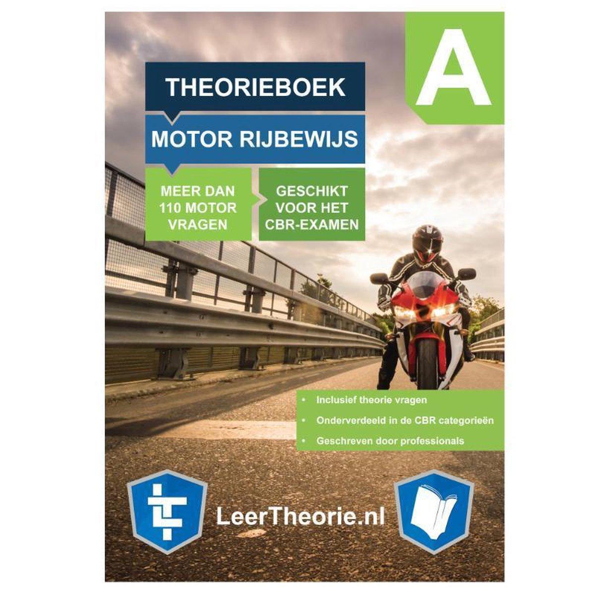 MotorTheorie Boek 2021 - Rijbewijs A Nederland – Motor Theorieboek – Theorie Leren Motor