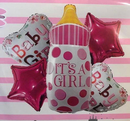 Geboorte Ballonnen - Its A Girl - Aluminium Ballonnen - 5 Pack