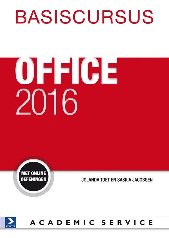 Basiscursus Office 2016 - Saskia Jacobsen |