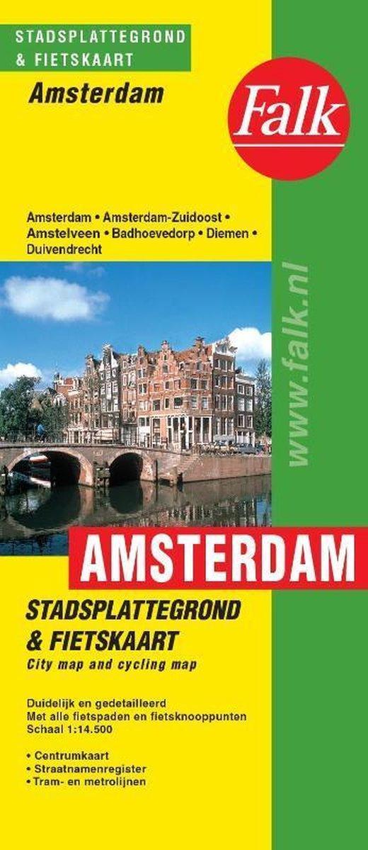 Amsterdam plattegrond - Falk