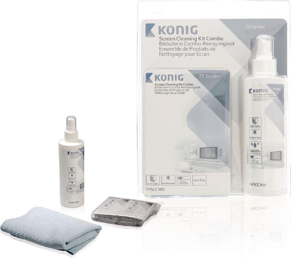 TV and Smart Media Screen Cleaner Kit 240 ml - Konig