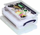 Really Useful Box 4 liter met divider transparant