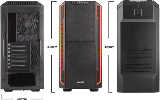 be quiet! Silent Base 600 Midi ATX Tower Oranje, Zwart