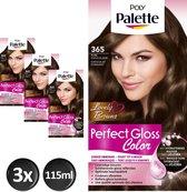 Poly Palette Perfect Gloss 365 Chocolade Haarverf - 3 stuks - Voordeelverpakking