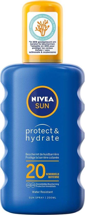 NIVEA SUN Zonnebrand - Protect & Hydrate Zonnespray - SPF 20 - 200 ml