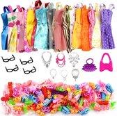 Poppenkleertjes - Geschikt voor modepoppen- Set van 32 items