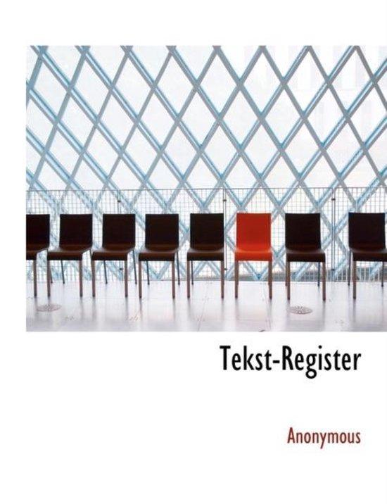 Tekst-register - Anonymous  