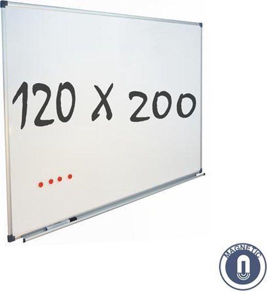 IVOL Whiteboard 120x200cm - Magnetisch - Gelakt staal - Met montagemateriaal