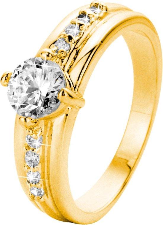 Eve Gold Plated Ring - Met Zirkonia - Maat 57