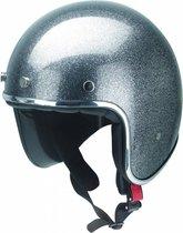 Redbike RB-765 retro jethelm metal flake grey maat L