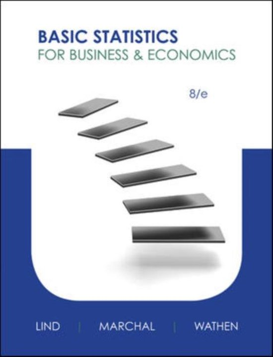 Boek cover Basic Statistics for Business and Economics van Lind