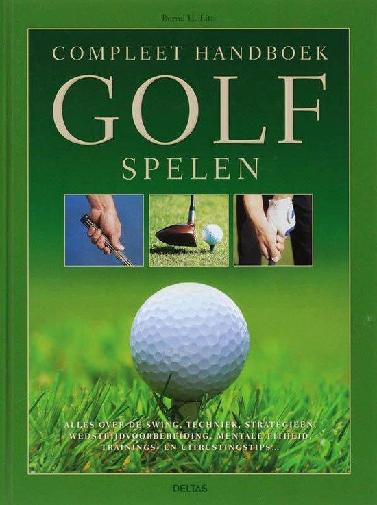 Cover van het boek 'Compleet handboek golf spelen'