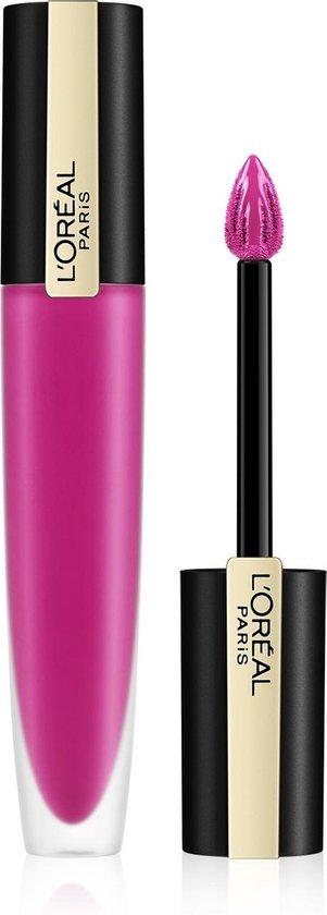 L'Oréal Paris Rouge Signature Lippenstift  - 106 I Speak Up - Roze - Matte Vloeibare Lipstick