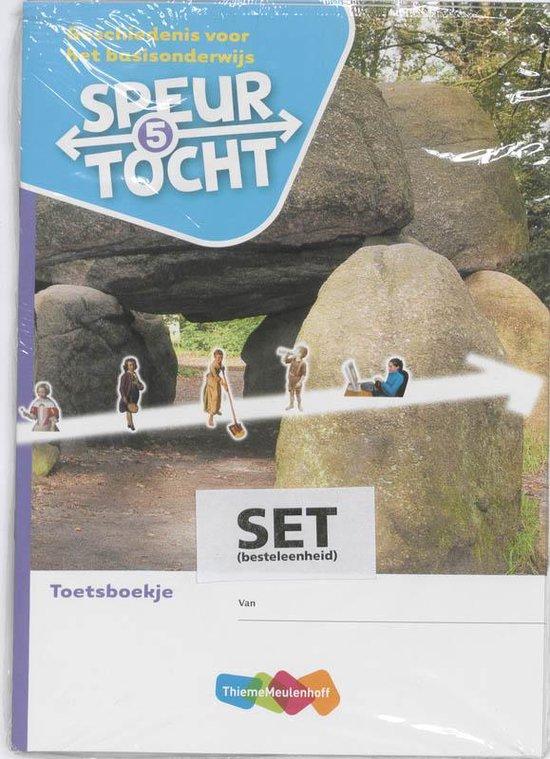 Boek cover Speurtocht Groep 5 5 ex. Geschiedenis voor het basisonderwijs Toetsboekje van Bep Braam (Paperback)