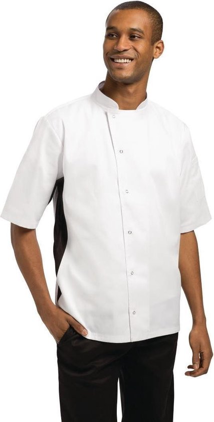 Whites Chefs Clothing Koksbuis Nevada Korte Mouw Wit ( Maat XL )