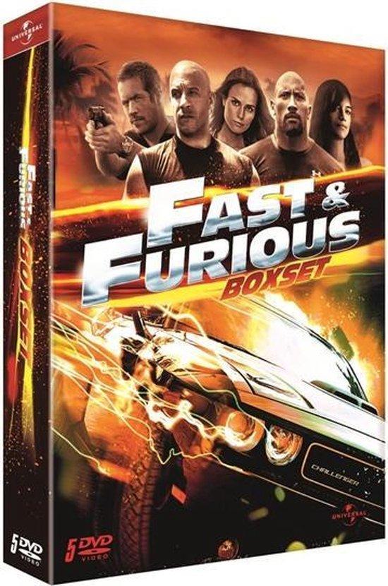 Cover van de film 'Fast & Furious 1 t/m 5'