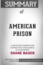 Summary of American Prison by Shane Bauer