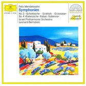 Mendelssohn: Symphonien no 3 and 4 / Bernstein, Israel PO