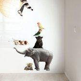 KEK Amsterdam Safari Friends: SET 3 - Muursticker - Multicolor