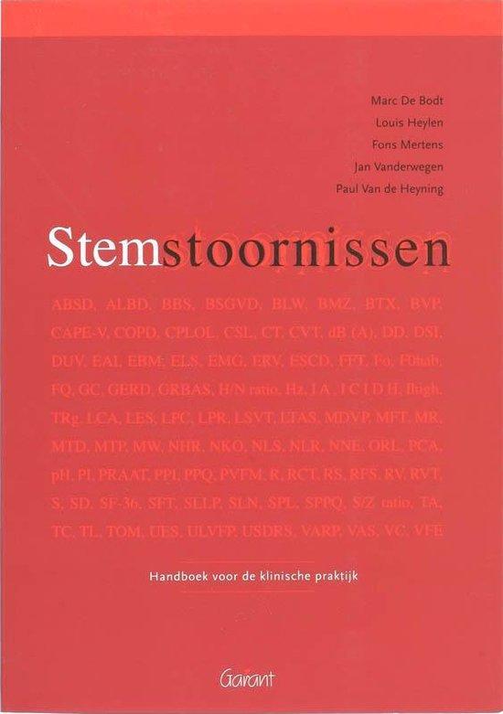 Stemstoornissen - M. de Bodt |
