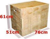 eSAM® - Cube Plyo Box - Hout - 3 in 1 - afm. 51 cm x 61 cm x 76 cm - Multiplex