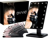 Evvie Cadeauset - Make-up Spiegel met LED Verlichting en 20-delige kwastenset in chique geschenkdoos