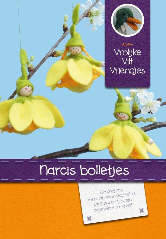 DIY wolvilt pakket: Narcis bolletjes