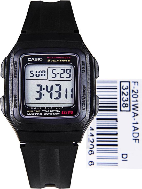 Casio F-201WA-1ADF Horloge
