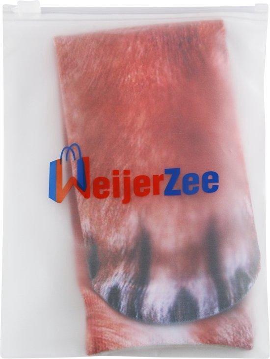 Dieren poten sokken - Sokken met dierenpoten motief - One size fits all - Vos