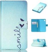 iCarer Smile print wallet case hoesje Sony Xperia M5