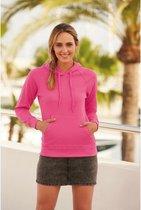 Roze hoodie/sweater voor dames - Dameskleding roze trui met capuchon XL (42/54)