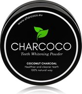 Charcoco® Activated charcoal uit kokosnoot shells - teeth whitening - Veilig wittere tanden - Ultrafijn poeder - Tanden bleken - Thuis tanden witten - Wittere tanden krijgen - Gele tanden - Zwarte tanden poeder - Tanden bleken