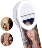 Selfie light ring voor op mobieltje of tablet | Maak goed belichte selfies - 3 licht standen