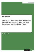 Aspekte der Naturdarstellung bei Barthold Heinrich Brockes am Beispiel von Das Firmament und Die kleine Fliege